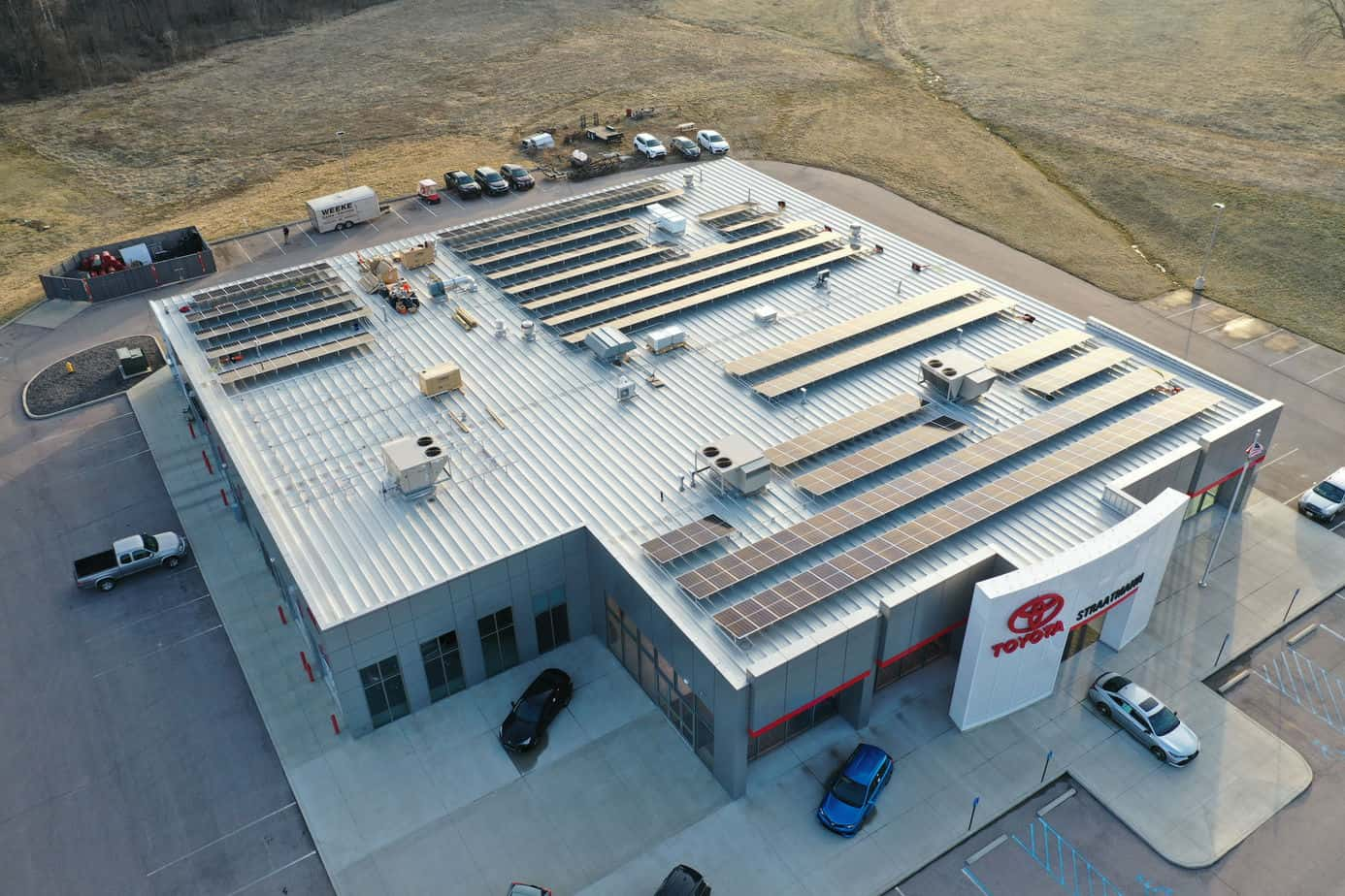 Solar Panels on top of Straatmann Toyota