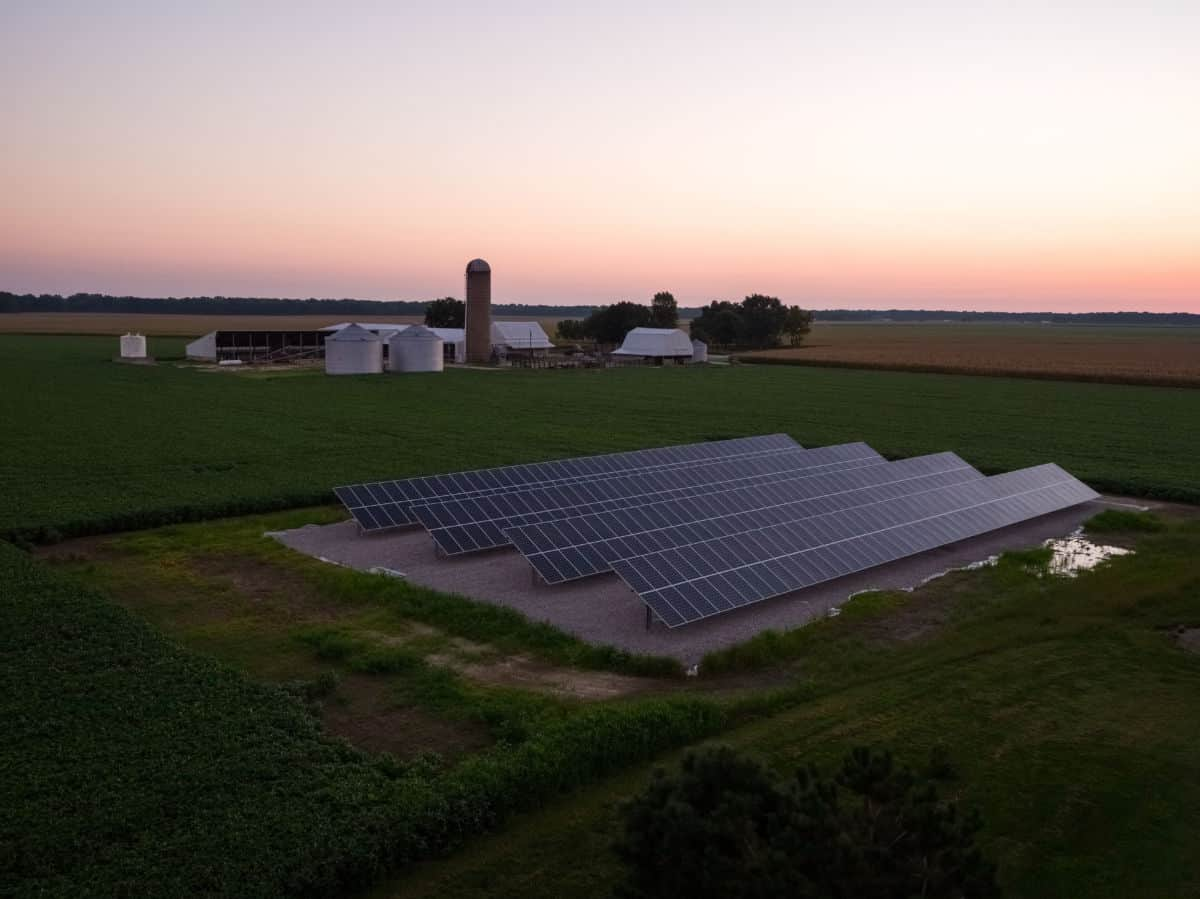 agriculture solar panels